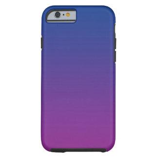 Ombre azul marino y púrpura funda para iPhone 6 tough