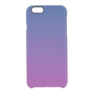 Ombre azul marino y púrpura funda clearly™ deflector para iPhone 6 de uncommon