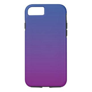 Ombre azul marino y púrpura funda iPhone 7