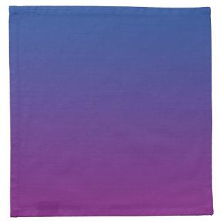 Ombre azul marino y púrpura servilletas de papel