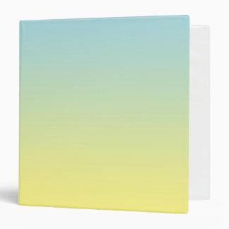 """Ombre azul y amarillo carpeta 1 1/2"""""""