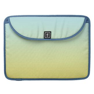Ombre azul y amarillo fundas macbook pro