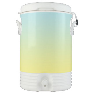 Ombre azul y amarillo enfriador de bebida igloo