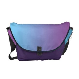 Ombre azul y púrpura bolsa de mensajería