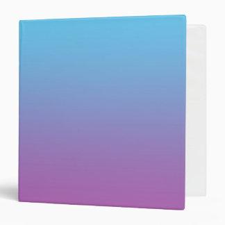"Ombre azul y púrpura carpeta 1 1/2"""
