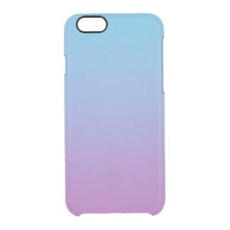 Ombre azul y púrpura funda transparente para iPhone 6/6S