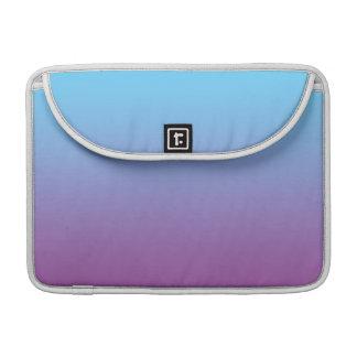 Ombre azul y púrpura fundas para macbooks
