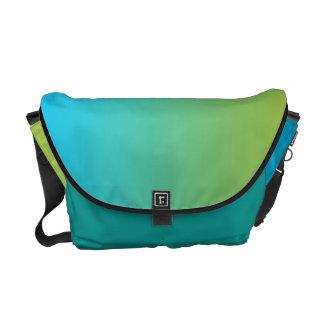Ombre azul y verde bolsas de mensajería