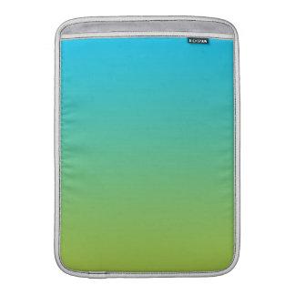Ombre azul y verde fundas para macbook air