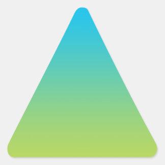 Ombre azul y verde pegatina triangular