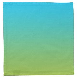 Ombre azul y verde servilleta