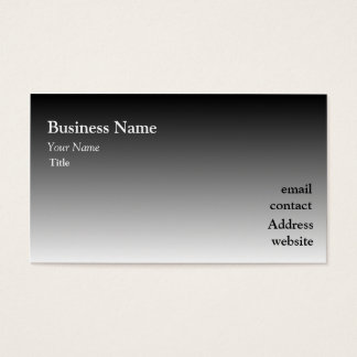 Ombre Black Business Card