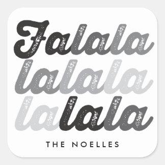 Ombre Black Falalalala Script Fun Holiday Sticker
