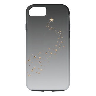 Ombre Black Gray Gold Stars Wish Shooting Star iPhone 7 Case