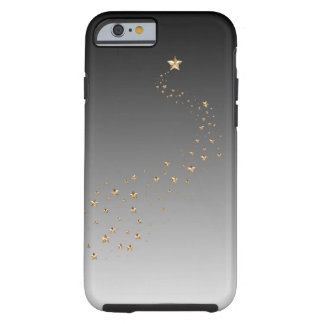 Ombre Black Gray Gold Stars Wish Shooting Star Tough iPhone 6 Case