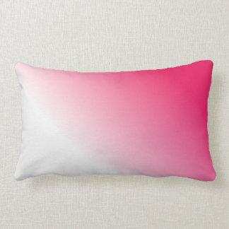 Ombre blanco de color rosa oscuro cojines