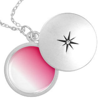 Ombre blanco de color rosa oscuro grimpolas personalizadas