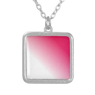 Ombre blanco de color rosa oscuro collares