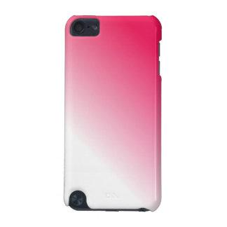 Ombre blanco de color rosa oscuro funda para iPod touch 5G