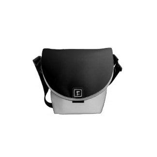 Ombre blanco negro bolsas de mensajeria