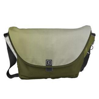 Ombre blanco verde oliva bolsa de mensajeria
