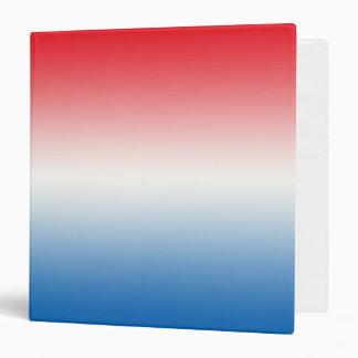 """Ombre blanco y azul rojo carpeta 1 1/2"""""""
