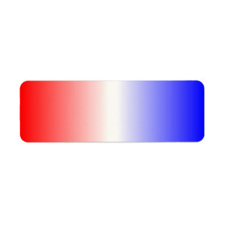 Ombre blanco y azul rojo etiquetas de remite