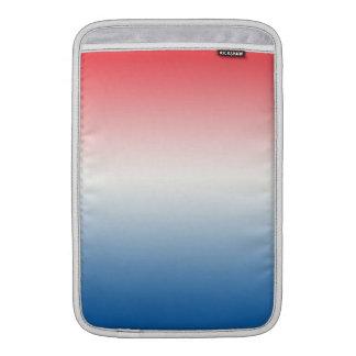 Ombre blanco y azul rojo funda macbook air