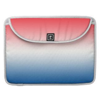 Ombre blanco y azul rojo funda macbook pro