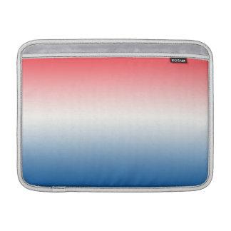 Ombre blanco y azul rojo fundas MacBook