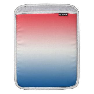 Ombre blanco y azul rojo fundas para iPads