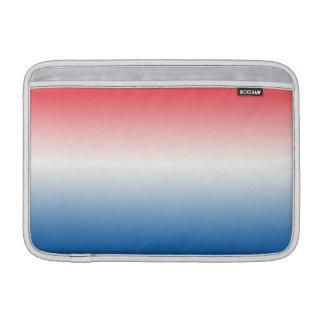 Ombre blanco y azul rojo fundas para macbook air