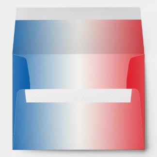 Ombre blanco y azul rojo sobres