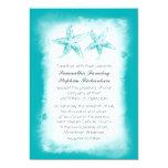 """Ombre blue beach wedding invitations 5"""" x 7"""" invitation card"""