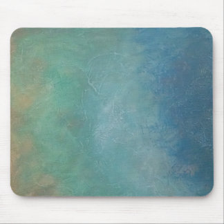 Ombre Blue Green Sea Abstract Painting Mouse Pad