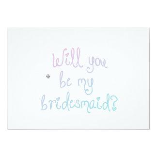 Ombre Bridesmaid Invitation