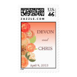 Ombre Cascading Fall Flowers Wedding Postage