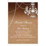 Ombre Chandelier Bridal Shower Invitation