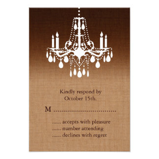 Ombre Chandelier RSVP Personalized Invites