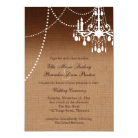 Ombre Chandelier Wedding Invitation