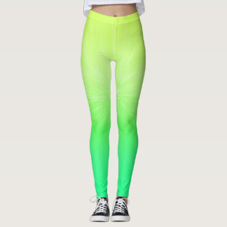 Ombre Chartreuse to Neon Green Leggings