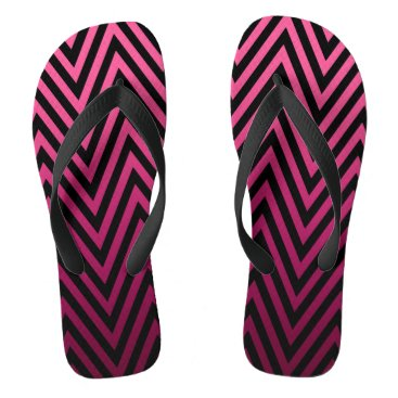 Beach Themed Ombre Chevron | fuchsia Flip Flops