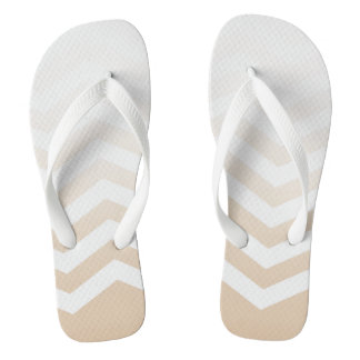 Ombre Chevron Style! | barely there blush white Flip Flops