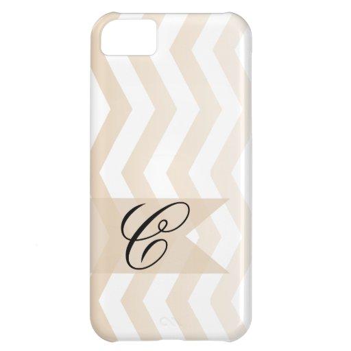Ombre Chevron Style! | blush Monogram iPhone 5C Cases