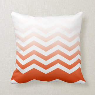 Ombre Chevron Style! coral Pillow