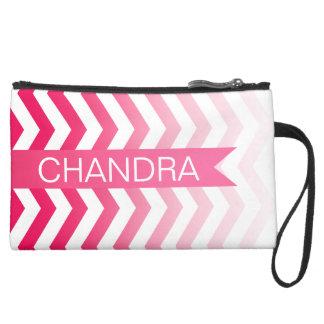 Ombre Chevron Style! | hot pink Wristlet