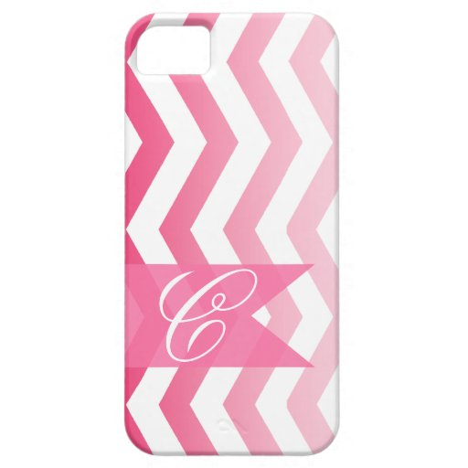 Ombre Chevron Style! | hot pink Monogram iPhone 5 Cases