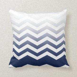 Ombre Chevron Style navy Pillow