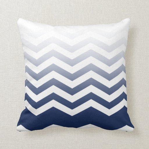 Ombre Chevron Style! navy Pillow