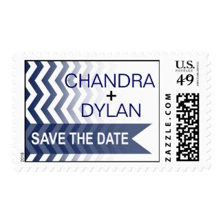 Ombre Chevron Style! | navy Stamp